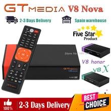 Receptor de satélite gtmedia v8 nova gtmedia v8x envie de espanha rápido mesmo que gtmedia v9 super DVB-s2 hd completo