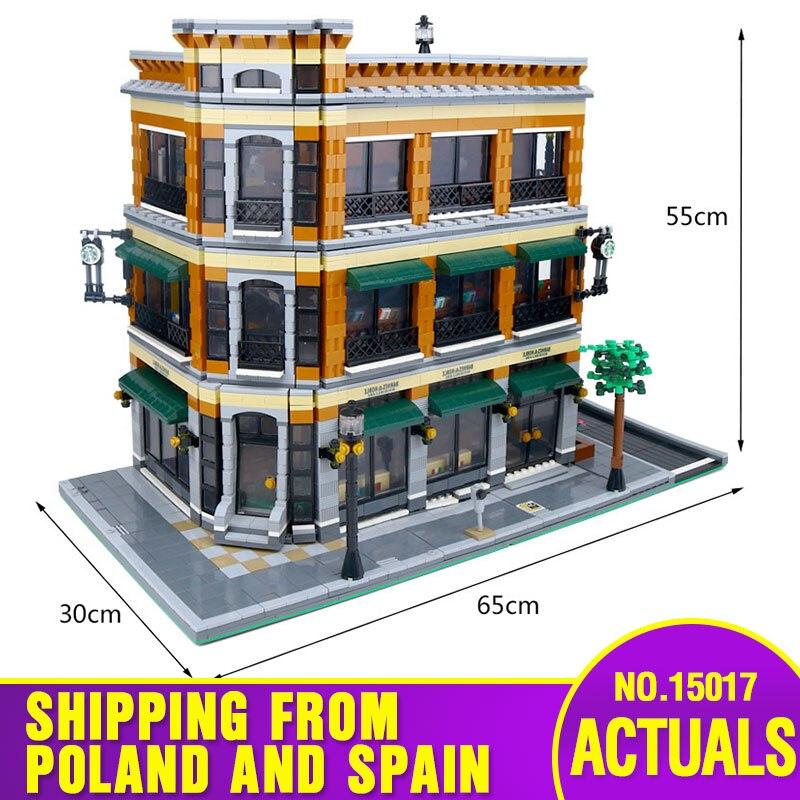 DHL 15017 متوافق مع الخبراء مدينة الشارع الرؤية 4616 قطعة مكتبة مقهى مجموعات نموذج بناء مجموعات كتل الطوب لعب هدايا-في حواجز من الألعاب والهوايات على  مجموعة 1