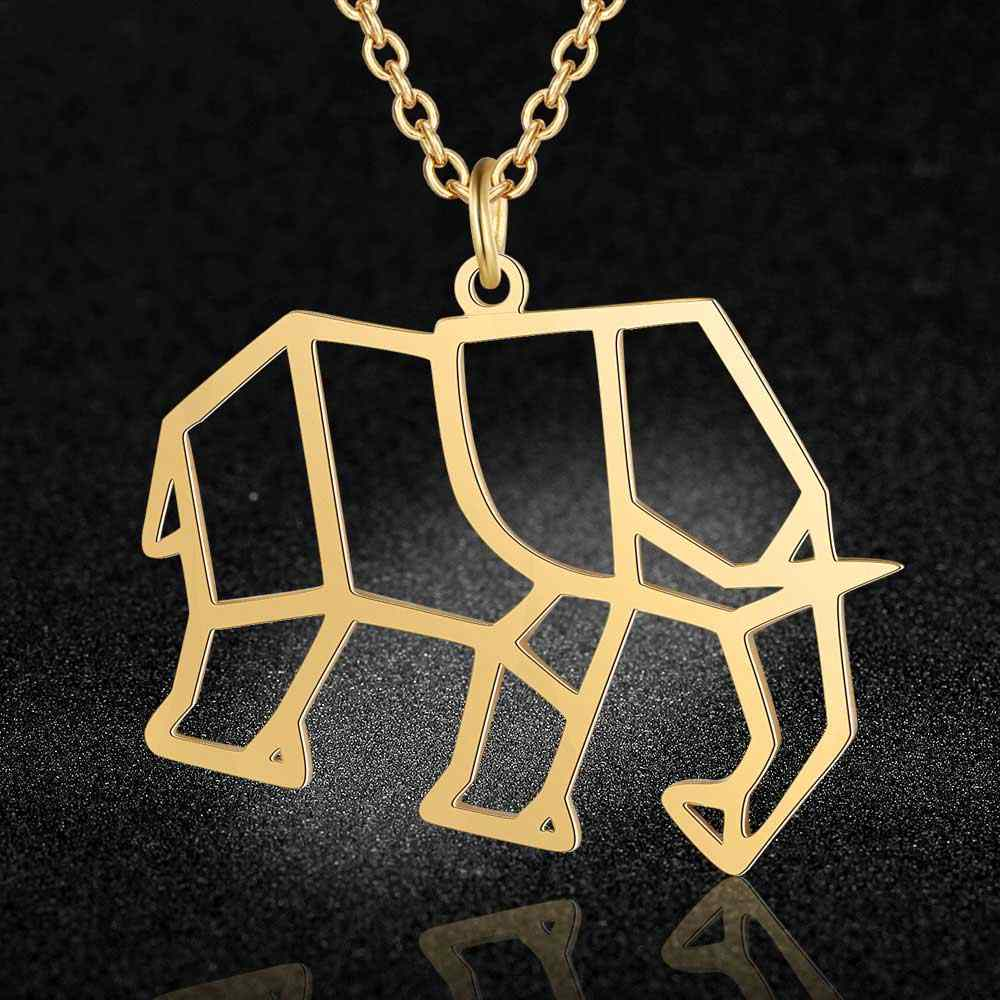 100% Real Stainless Steel Hollow Elephant Necklace Trend Jewelry Necklaces Italy Design Special Gift Personality Jewelry