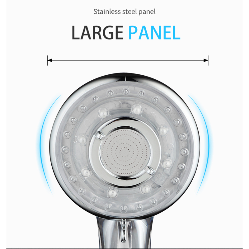 EHEH 3-Function Spa Shower Head Water Saving Handheld ABS High Pressure Filteration Showerhead Bathroom Accessories