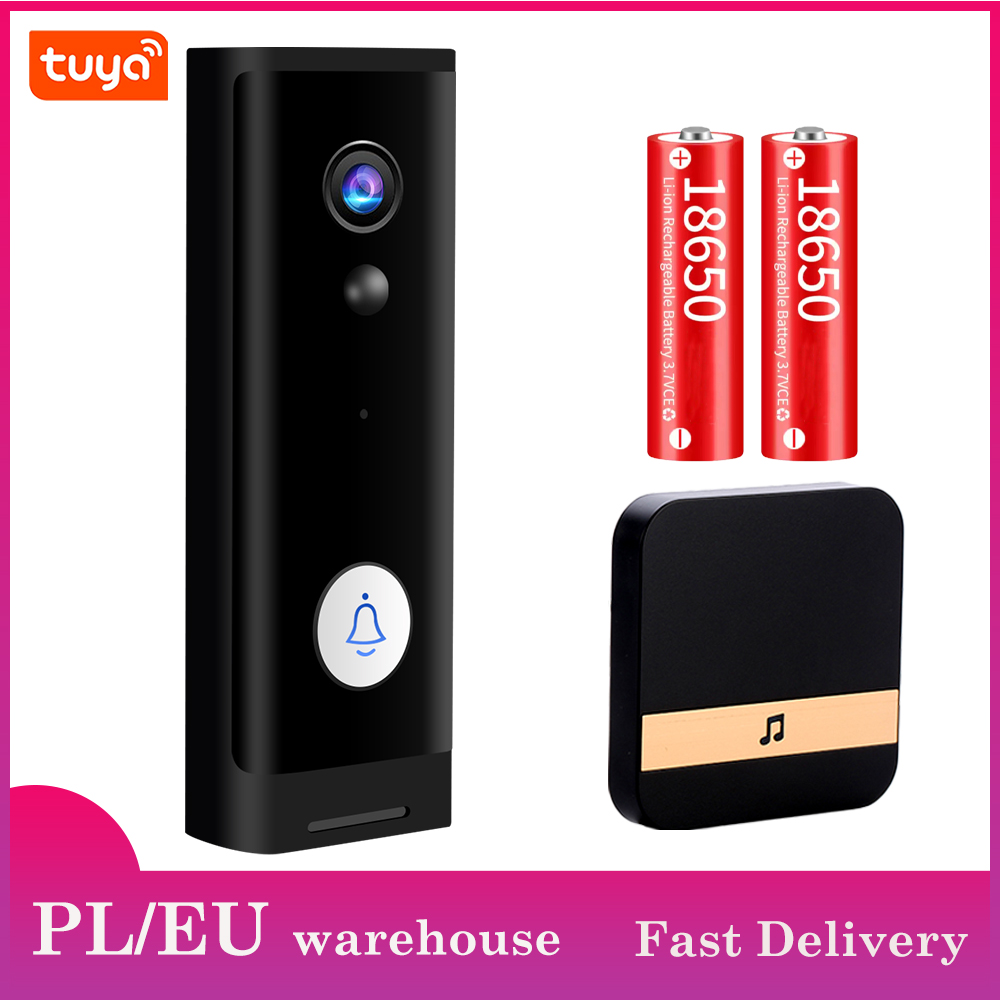 Mini 1080P HD WiFi Doorbell Camera Smart Wireless Doorbell Video Intercom Security Camera Outdoor IR Night Vision 2MP Tuya APP|Doorbell|   - AliExpress