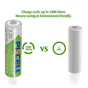 Image 5 - PKCELL şarj edilebilir Batteria NIMH AA ön şarjlı nimh piller aa 2200mAh 2 adet AAA 850mAh ile 2 adet 1 adet pil kutusu 2a aaa