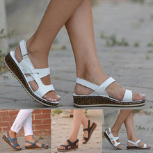 Summer Women Sandals Gladiator Ladies Hollow Out Wedges Buckle Platform Casual