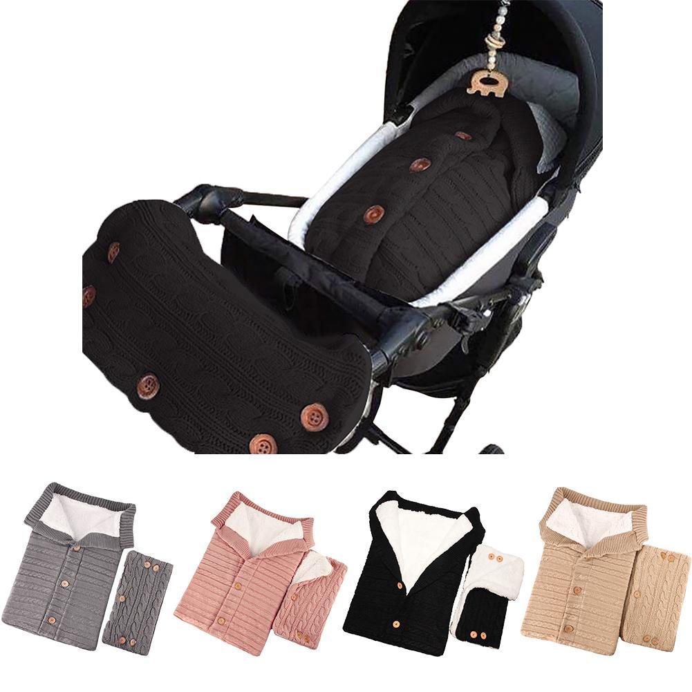 Warm Baby Blanket Soft Baby Sleeping Bag Stroller Accessories Sleepsacks Cotton Knitting Envelope For Newborn Swadding Wrap