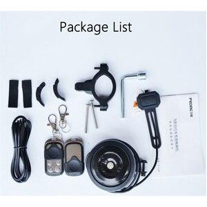 Image 5 - USB شحن دراجة جرس القرن الكهربائية إنذار بصوت عال ل M365 دراجة نارية سكوتر دراجة نارية دراجة المقود السلامة مكافحة سرقة إنذار