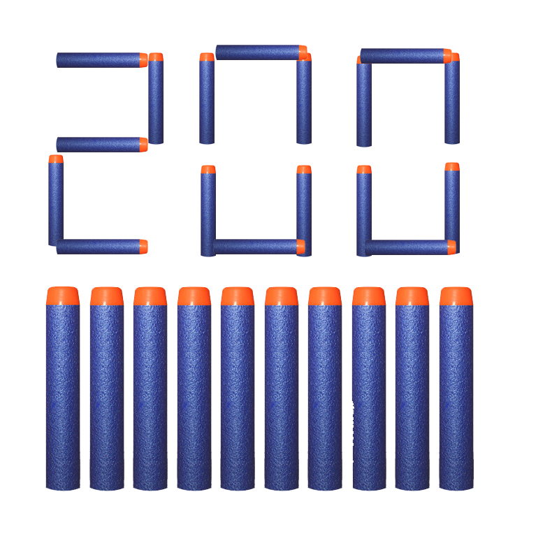 200pcs Refill Darts For Nerf Bullets Soft Hollow Hole Head 7.2cm Refill Darts Toy Gun Bullets Blasters Kids Guns Accessories