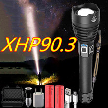 Powerful Flashlight Torch Zoom-Lamp 10000lm Usb Rechargeable XHP90.3 26650-Battery Tactical