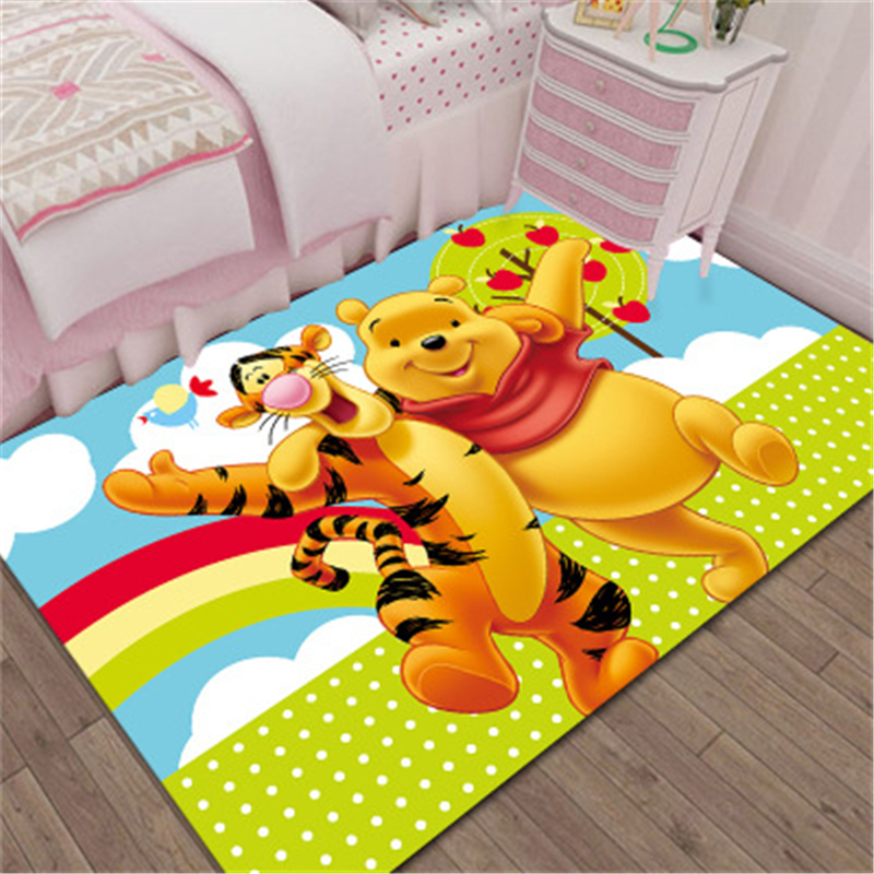 Winnie The Pooh Mat Bathroom Child Boy Girl Carpet Hallway Doormat Anti - Slip Bathroom Carpet Absorb Water Kitchen Mat/Rug