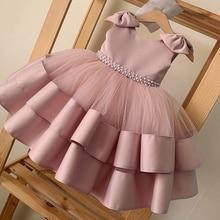 Платье принцессы на 1 год для новорожденных девочек на 2-й день рождения бальное платье для крещения малышей из тюля для свадьбы Крещения пуш...