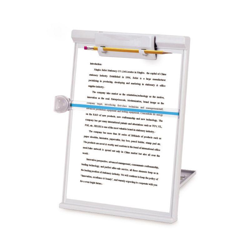 Plastic Adjustable Computer Document Holder Book Rack Stand Reading Typing Frame Bookends Recipe Shelf Folding Holder Organizer