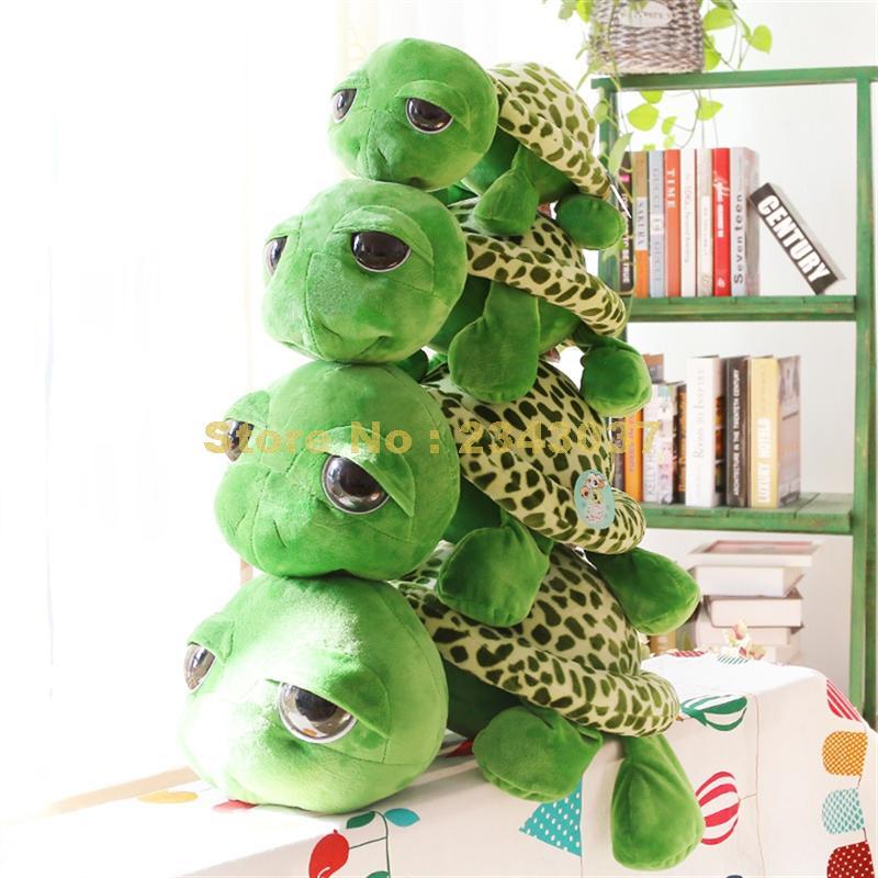 Милый, с большими глазами черепаха плюшевая кукла подушка мягкая игрушка в виде животного
