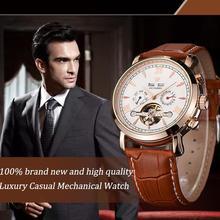 Retro Luxury Men Waterproof Mechanical Watch Multi-function