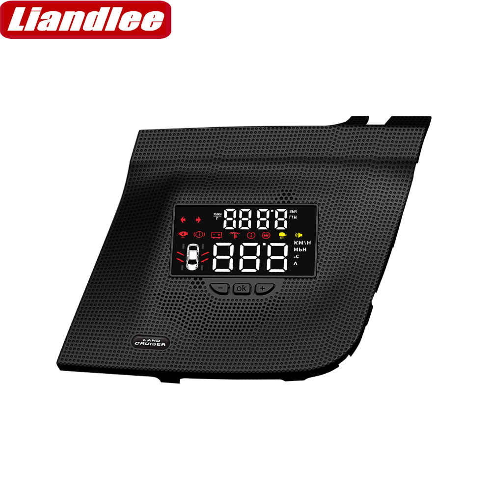Liandlee Car Head Up Display HUD For Toyota Land Cruiser 2010~2015 Safe Driving Screen OBD II Speedometer Projector Windshield