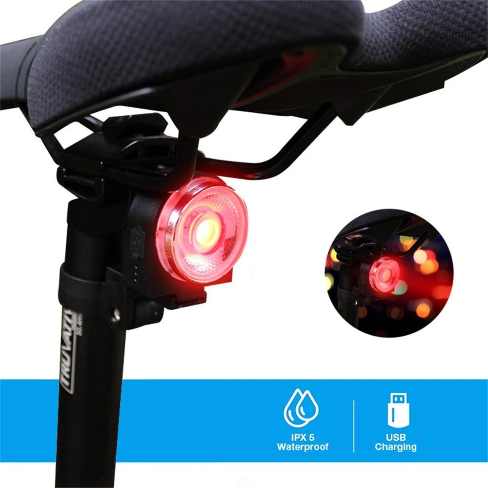 2PC <font><b>Bike</b></font> <font><b>Back</b></font> Tail <font><b>Light</b></font> USB <font><b>Rechargeable</b></font> Rear <font><b>Bike</b></font> <font><b>Light</b></font> RGB Colors Led <font><b>Light</b></font> Bicycle Flashlight для велосипеда image