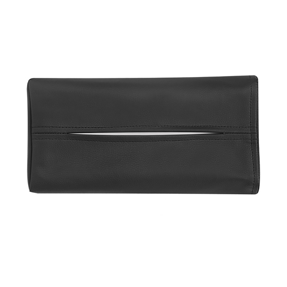 Adhesive Pouch Hotel Easy Clean Paper Extraction On Sun Visor Home Car Use Tissue Box Accessories Office Decorative Faux Leather