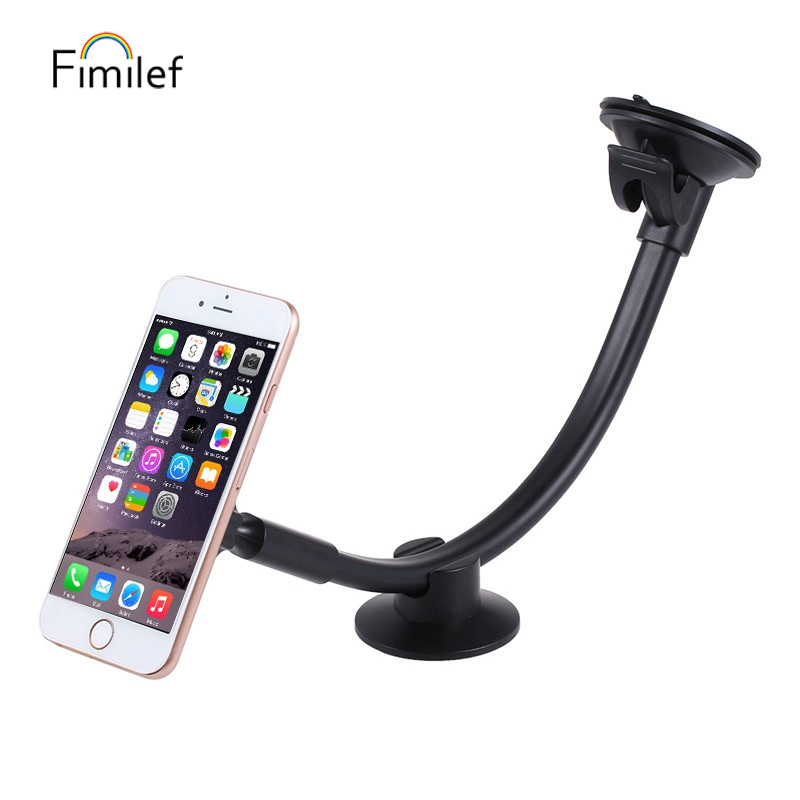Universal Magnetic Car Phone Holder Long Arm Windshield Dashboard magnet Car holder Stand mount dock For iphone 11 Mobile Phone