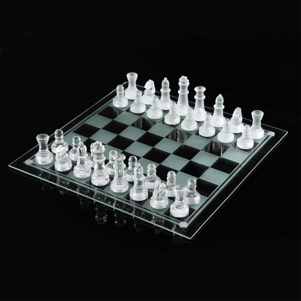Il gioco di scacchi in vetro utilizza scacchiera in cristallo di alta qualità