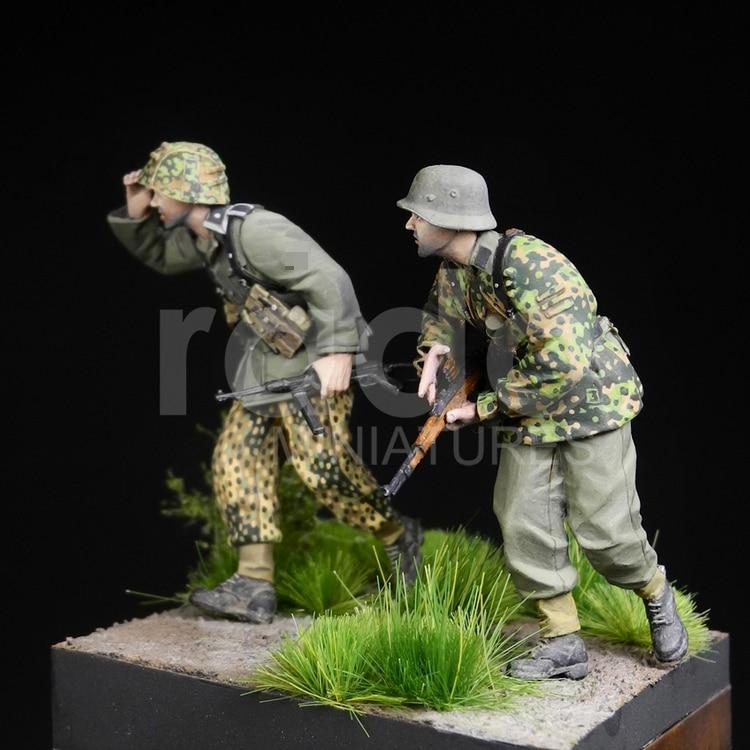 1//35 Resin Figure Model Kits German Dogs Set WWII WW2 Unassembled Unpainted
