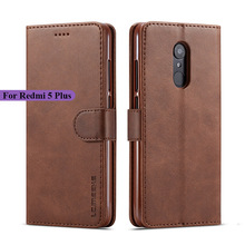 Xiaomi Redmi 5 Plus Case Leather Vintage Phone Case For Redmi 5 Plus Cases Flip Wallet Cases On Xiaomi Redmi 5 Cover For Redmi 5