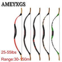 1pc Archery Recurve Bow 54inch Longbow 25-55lbs Traditional Bow Shooting Entertainment Outdoor Hunting Bow And Arrow Accessories 20 50 customized archery traditional yuan special bamboobark 3k carbon laminated bow longbow for outdoor hunting shooting