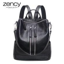 Zency Fashion Genuine Leather Women Backpack Ladies Travel B