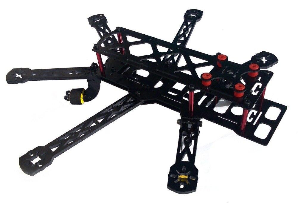 Mini-quadro hexagonal de carbono, câmera hexagonal de carbono qav 6 eixos 300mm compatível com gopro 808