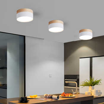 Modern LED Ceiling Lights 12W indoor lighting for living room bedroom kitchen Ceiling lamps Nordic Wood Macaron Lamp Fixtures - DISCOUNT ITEM  10 OFF Lights & Lighting
