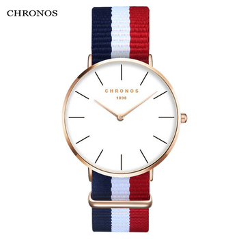 CHRONOS 2018 New Watches For Men Women Ultra Slim Quartz Watch with Simple Nylon Band Masculino Fashion Wristwatches CH02 drop shipping watches for men women ultra slim quartz watch with simple nylon band relogio masculino wristwatches free shipping