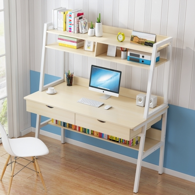 Computerized Desktop, Household, Simple And Economical Bedroom, Desk And Bookshelf, One Simple Student Desk And Save Space