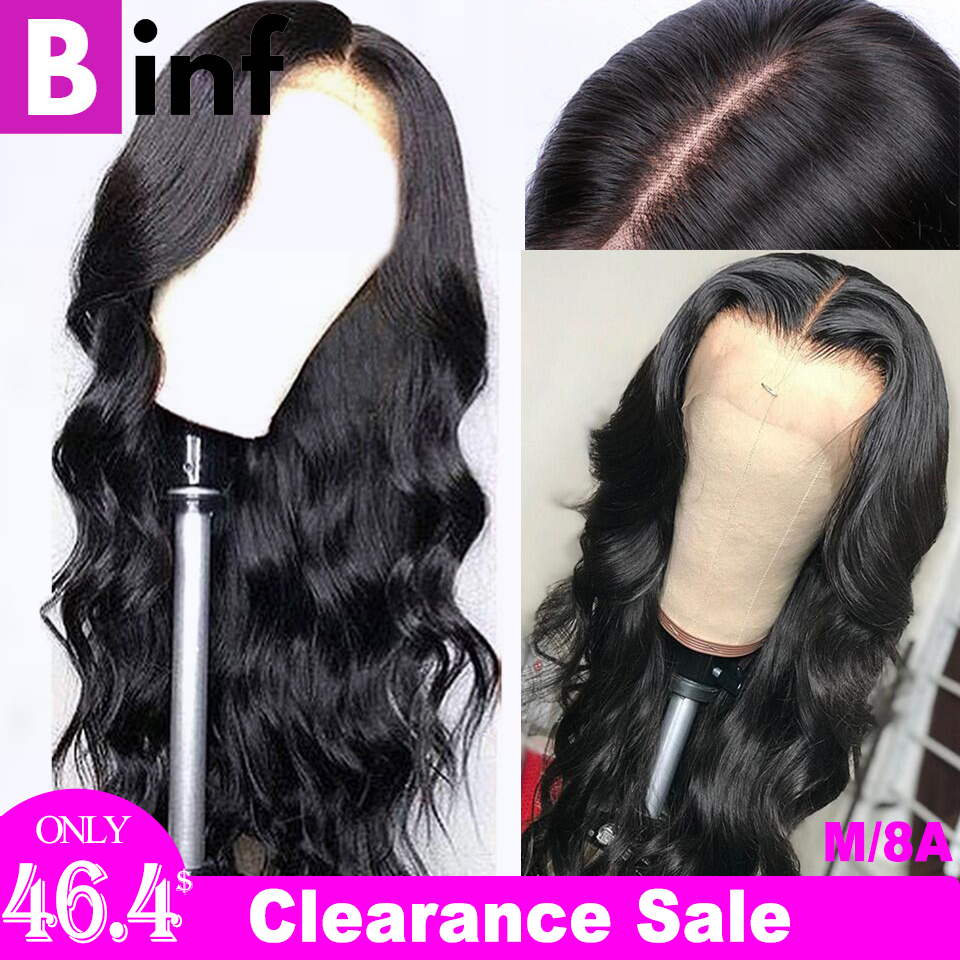 Body Wave13x4 Lace Front Human Hair Wigs Brazilian Remy Hair Pre-Pluck With Baby Hair 150% Density 8-24 Inches Color 1b