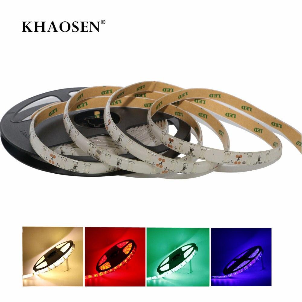 Khaosen Waterproof IP65 LED Strip  Flexible Light High Brightness Christmas 0.5m 1m 2m 3m 4m 5m Blue Red Green White Warmwhite