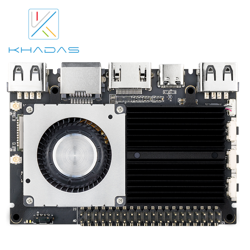 Купить с кэшбэком Khadas VIM2 Max  Mini PC with Linux Ubuntu Mate 16.04 Support, Octa Core ARM Development Board DDR4 3GB eMMC 64GB AP6398S