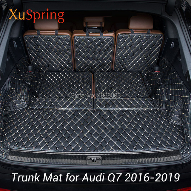 Car Rear Box Trunk Mat Pad Cushion Full Coverage Protective Cover Styling fit for Audi Q7 2016 2017 2018 2019 Cargo Liner