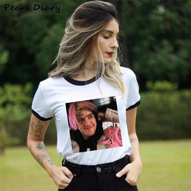 Lil Peep T Shirts Summer O-neck Black Short Sleeve T-shirts Women Punk Rock Hip Hop Tops Tee Lil Peep