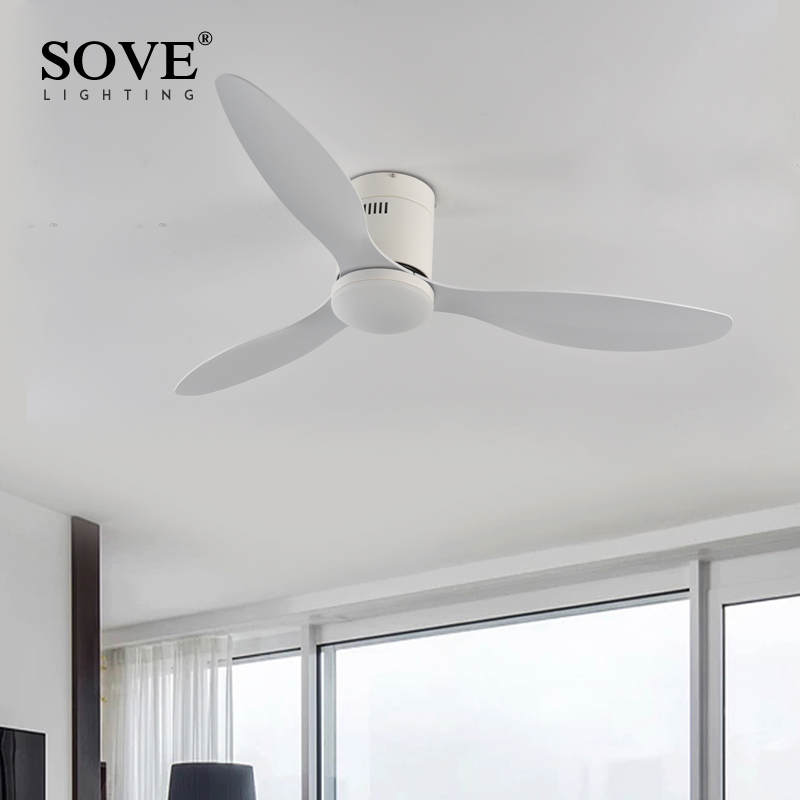 Sove Low Floor Modern Led Ceiling Fan With Lights Simple Without Light Dc Remote Control Home Fan Ventilador De Techo 220v 110v