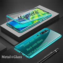 For Xiaomi Note 10 Pro Magnetic Case 360 full Protection double-sided Tempered Glass Case For Xiaomi Mi 10 Pro Metal Bumper Case