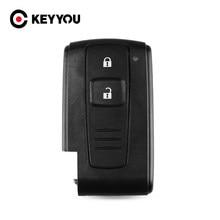 Keyyou 2/3 botão remoto inteligente chave do carro capa para toyota prius 2004 - 2009 corolla verso camry com/sem corte lâmina