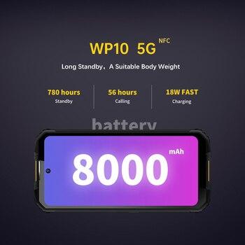 "OUKITEL WP10 5G Rugged SmartPhone Global Version 8GB+128GB 8000mAh Mobile Phone 6.67"" FHD+ MeditaTek 48MP Quad Camera Phone 3"