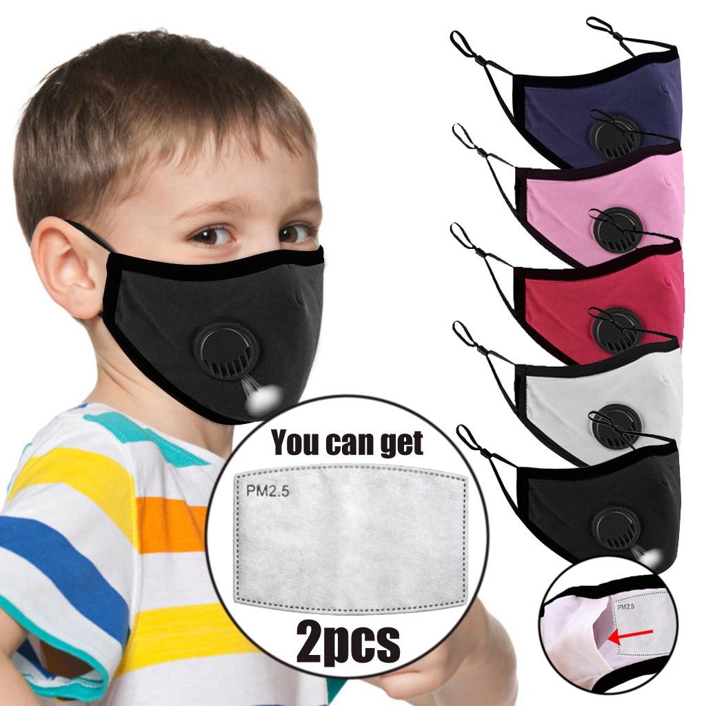 5pcs Children Washable Reusable Anti-pollution Filter Maske Mouth Respirator Dust Face Maske Cotton Unisex Mouth Face Maske