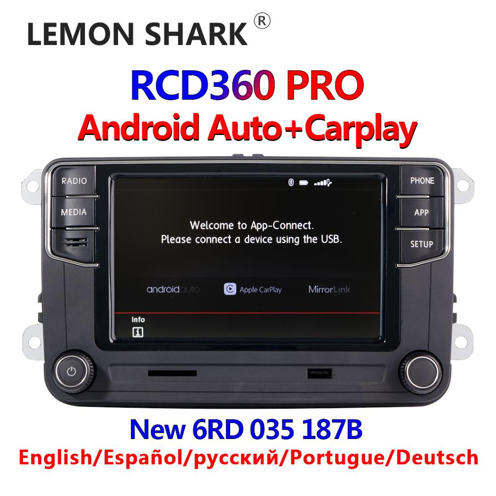 Autoradio Android auto carplay sans marque RCD360 PRO, RCD330, 6RD035187B, pour voiture VW Golf 5/6, Jetta MK5/MK6, Tiguan, CC, Polo, Passat, MIB