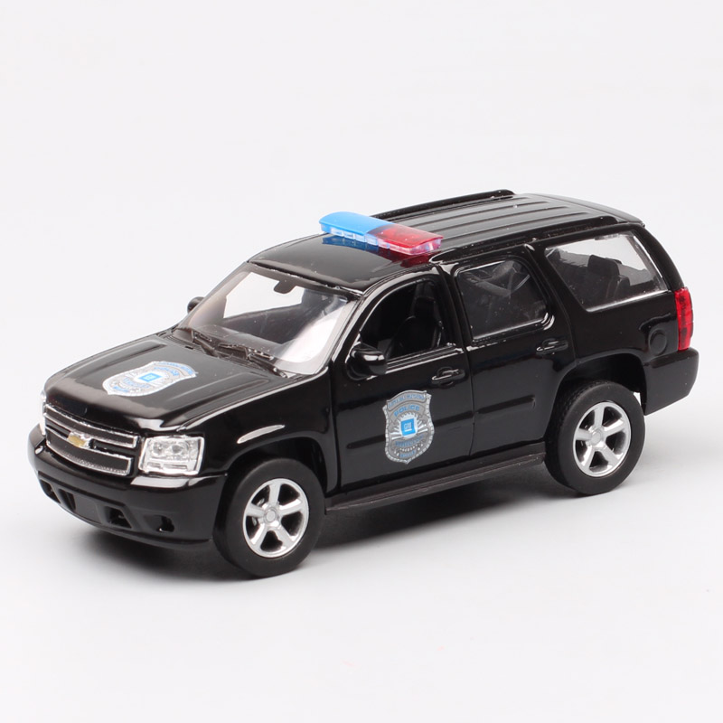 1/36 scales Welly GM <font><b>2008</b></font> Chevrolet <font><b>Tahoe</b></font> Yukon car police SUV pull back Diecasts & Toy Vehicles model miniatures gift for kids image