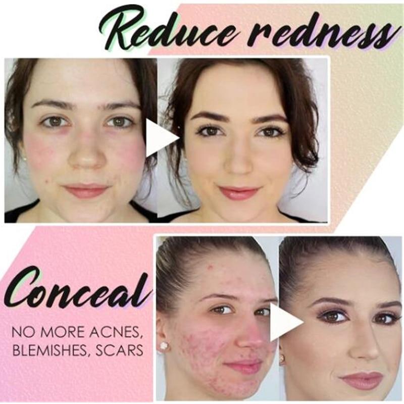 àFree ShipConcealer-Cream Makeup-Base Isolation-Makeup Rainbow-Tricolor Face Pore Brighten Invisible