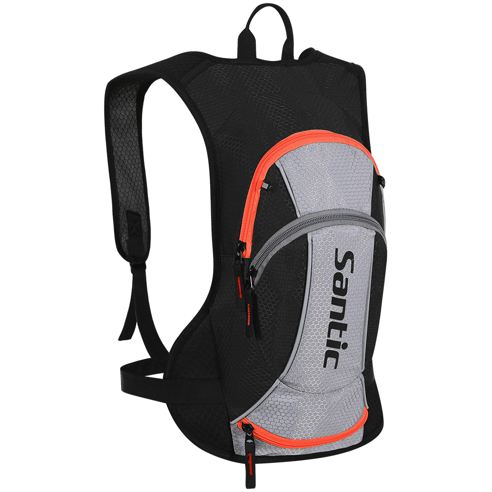Santic Cycling Backpack 15L Riding Daypack Breathable Lightweight MTB Bike Hiking Bags with Helmet Storage Bicycle Accessories
