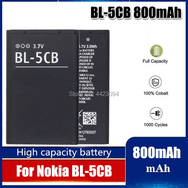 BL-5CB Battery For <font><b>nokia</b></font> 1000/1010/1100/1108/1110/1111/1112/1116/<font><b>2730</b></font>/1616/1800 Battery BL-5CB BL 5CB Battery SanErqi image