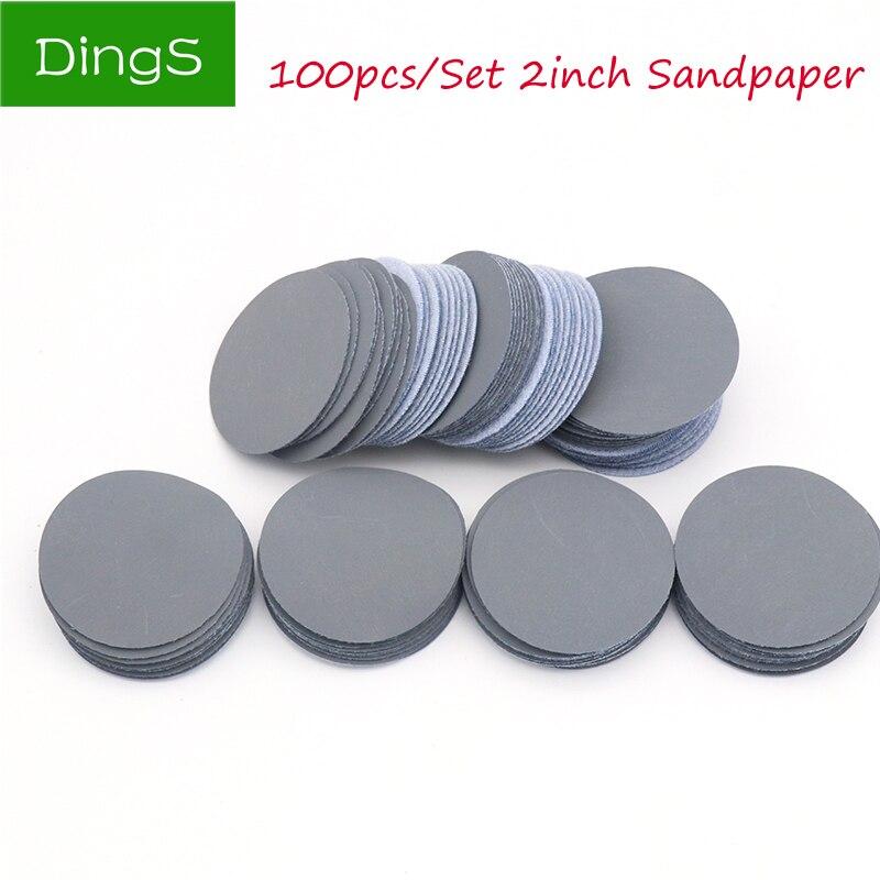 20pcs Mixed Sander 2inch 50mm Disc 80~3000 Grit Sanding Polishing Pad Sandpaper