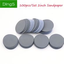 100pcs 2 inch 50mm circular Flocking polishing disc Round Self Adhesive Sandpaper Disk 3000 Grit for Sander Grits Abrasive Tools