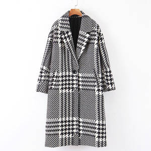 RR Single Button Wool Coats Women Fashion Joniol Printed Jackets Women Elegant Long Coats Female Ladies IW