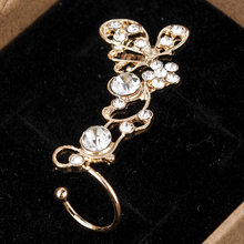 Fashion Retro Butterfly Flower Clip On Right Ear For Women Crystal Ear Cuff Earrings ear cuff earrings