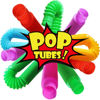 1 Pack Mini Pop Tube Sensory Fidget Toy Colorful Heavy-Duty for Construction Building Educational Toys for Stress Autism ADHD
