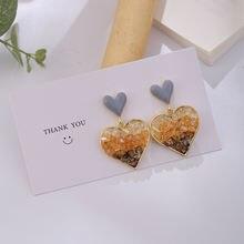 Южнокорейские Кристальные капли глазури в форме сердца маленькие